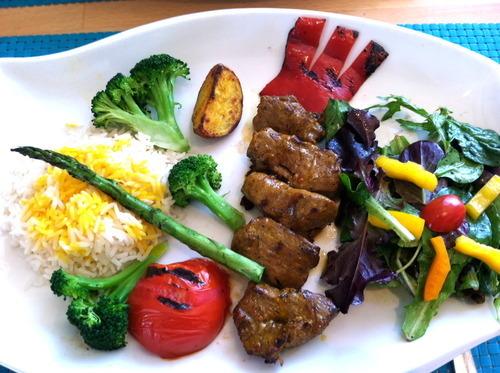 The New Zealand Lamb Kabob Plate