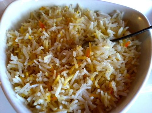 The chef's special recipe fluffy Basmati rice