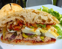 The signature Tunisian Sandwich, a meal in itself - every cook with their own version