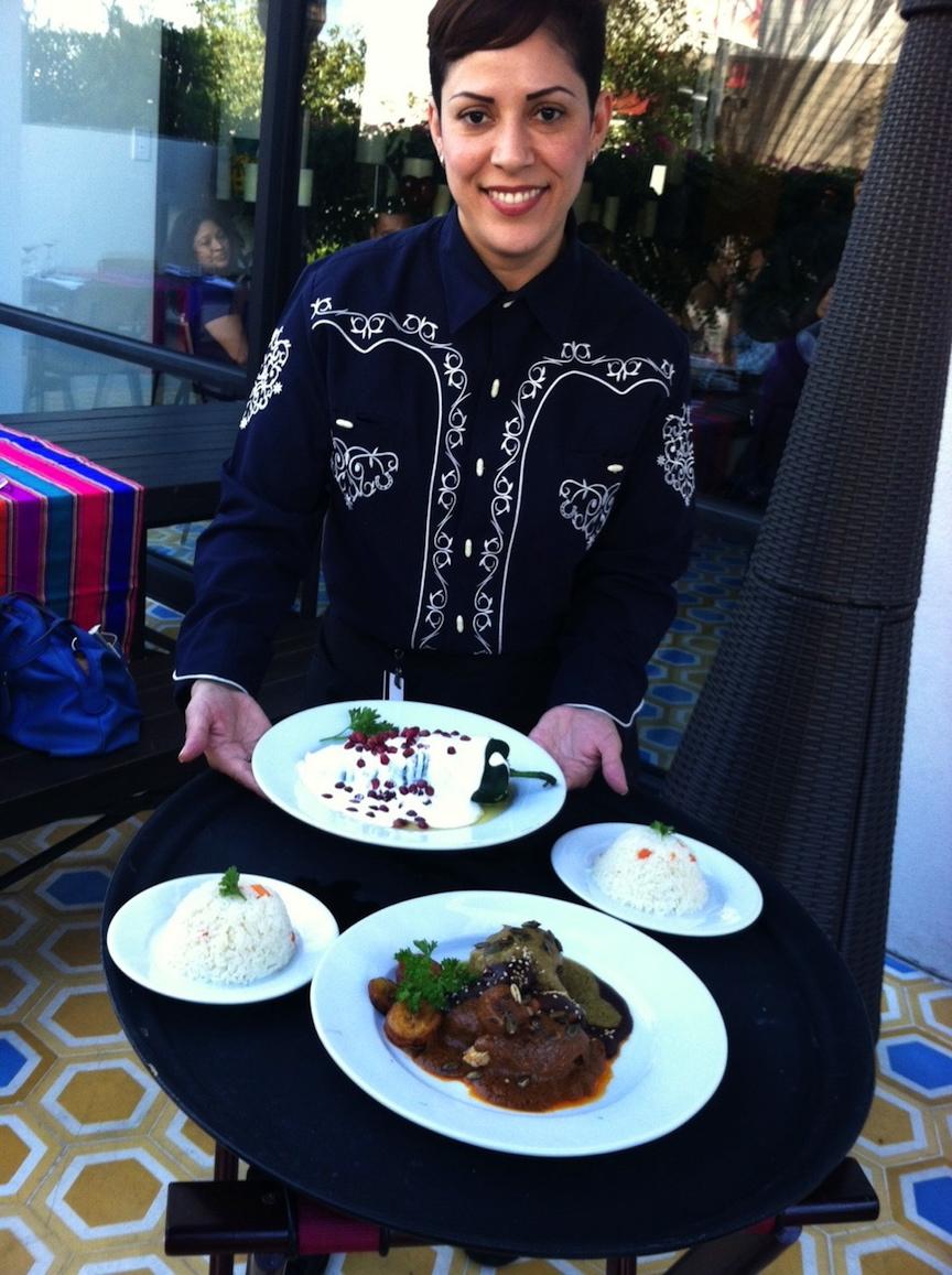 Sylvia, our gracious, upbeat server