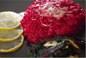 beet risotto