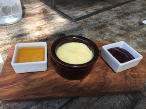 honey, butter and jam