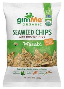 Seaweed Chips with Brown Rice and Wasabi Tamari